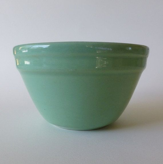 Vintage Fowler Ware small mixing bowl soft mint by eclecticmoi