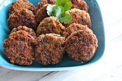 """Indian"" meat balls with cumin, coriander, chillis, ginger and garam masala"