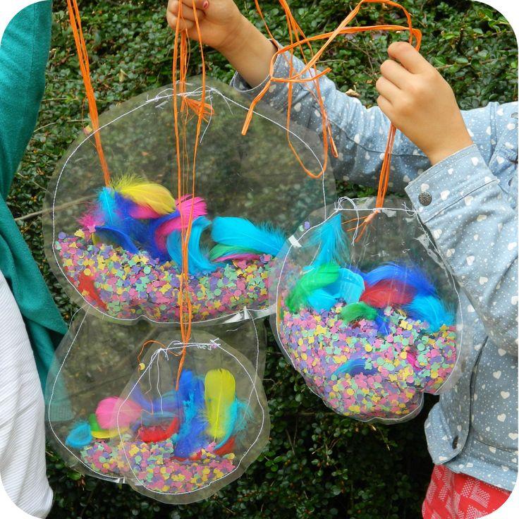 Activité pour anniversaire :   bulles aquarium poc a poc