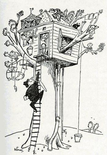 Ik heb een tante en een oom die zitten in een eikenboom- tekst Annie M. G. Schmidt, illustratie Wim Bijmoer