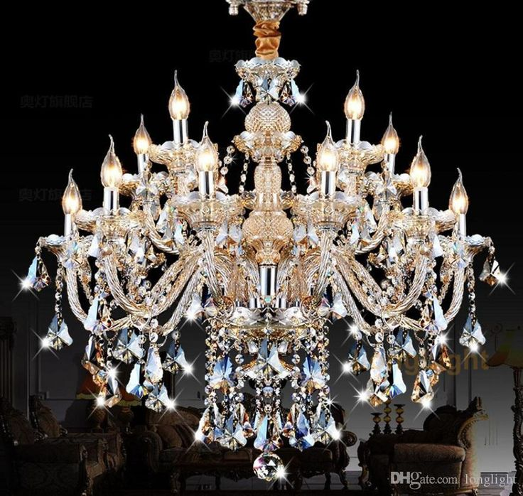Led Chandelier Lighting Modern Luxury K9 Crystal Light Res De Cristal Upscale Re Chandeliers Living