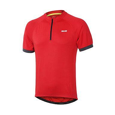 ARSUXEO® 2017  Cycling Jersey Bike Bicycle Short Sleeves MTB Clothing Shirts Wear Mountain Bike Jersey - USD $ 13.49