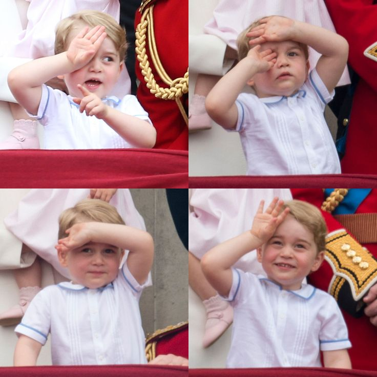 Prince George made the most adorable little faces watching the Horse Guards parade - Trooping The Colour 2016