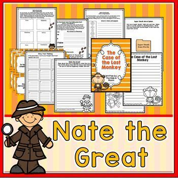 In this unit, your students will explore the genre mystery with the book, Nate the Great.  Unit includes the following:1) A schema building activity about mysteries.2) Story impressions strategy to make predictions.  With this, students are given a list of story words and use the list to describe what they think will happen in the book.  3) During the reading process, students explore the story vocabulary and story elements.  4) Question Task Cards and Response page for group discussion or…