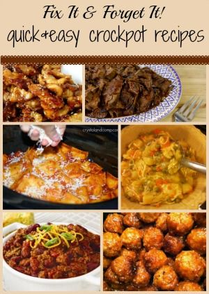 Slow Cooker Fix It Forget It And Easy Crockpot Recipes