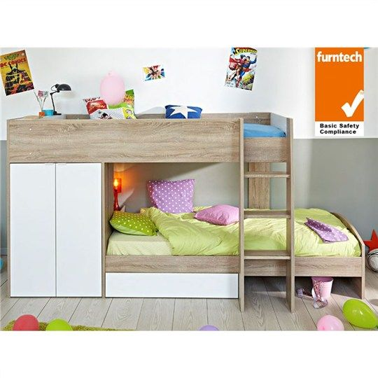 Parisot Stim French Made Single Bunk Bed With Wardrobe Storage