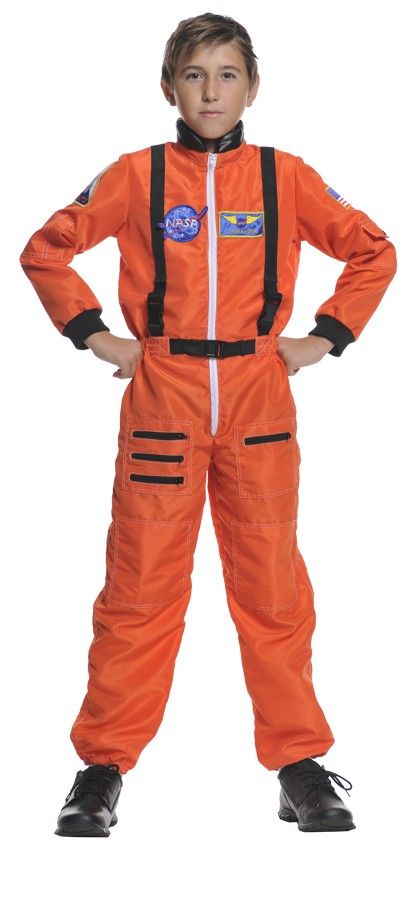 Astronaut Orange Child Costume