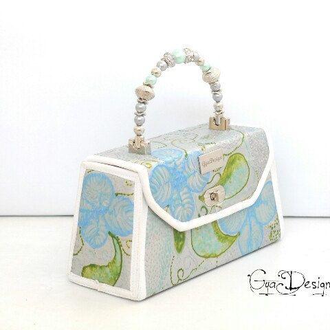 Hand made & hand Painted GyaDesign luxury purse