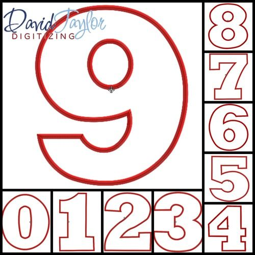 FREE - Numbers 0-9 Machine Applique Embroidery Design | FREE