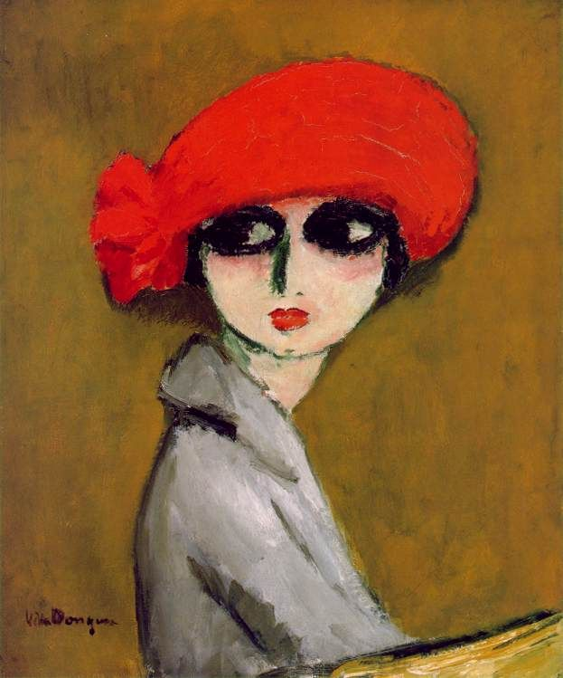 My very favorite painting in the world: The Corn Poppy by Kees van Dongen. You can see it at the Museum of Fine Arts at Houston