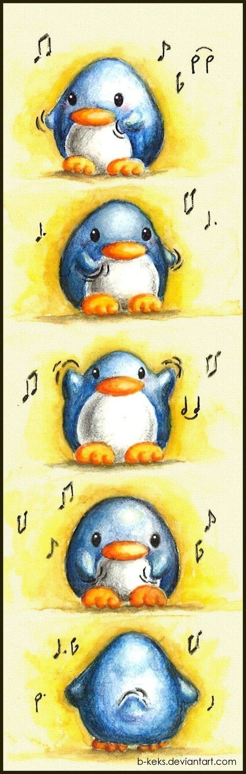 Dancing Penguin by B-Keks