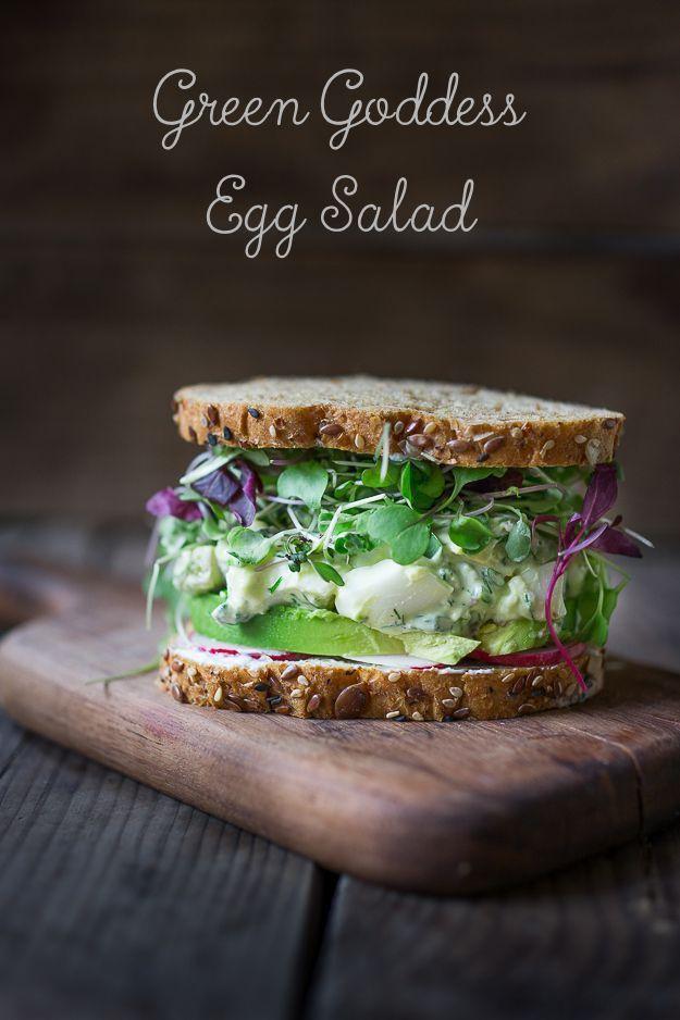 Green Goddess Egg Salad with Avocado