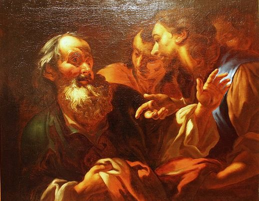 Petr Brandl - Jacob receives a bloodstained robe from Joseph  (around 1700)  #baroque #painting #art #Czechia