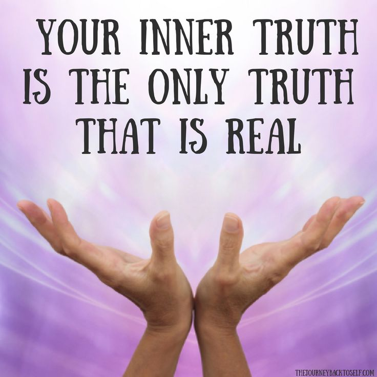 Find and live from your inner truth. Visit: http://www.thejourneybacktoself.com