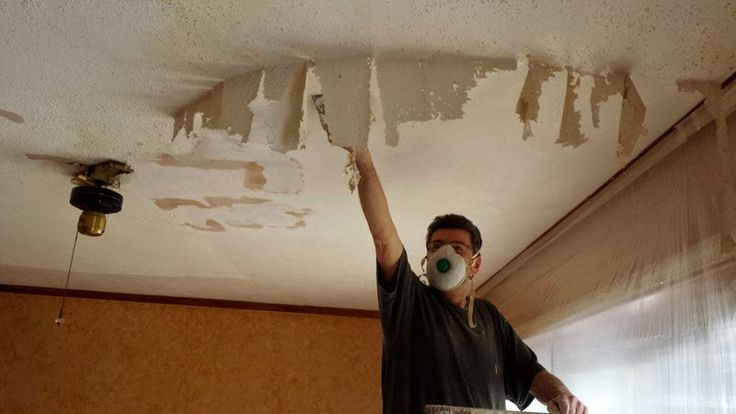 This popcorn ceiling removal trick is so much simpler than we thought!