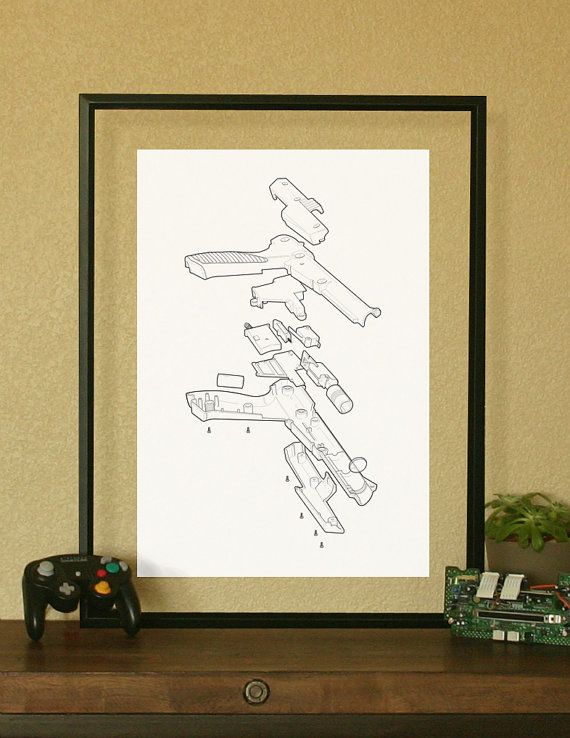 NES Nintendo Light Gun Video Game Poster by BACKBACKPUNCH on Etsy, $25.00