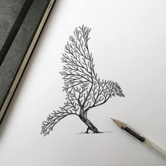 Nature & Ink - The Metamorphoses by Alfred Basha | The Dancing Rest https://thedancingrest.com/2016/08/01/nature-ink-the-metamorphoses-by-alfred-basha/