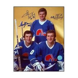 AJ Sports World STAP129022 STASTNY BROTHERS Quebec Nordiques TRIPLE-SIGNED 8x10 Photo