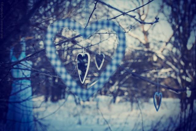 """Украшаем все вокруг! - Фотоэксперимент """"Когда уходит любовь.."""" #heart, #grey, #blue, #winter"""