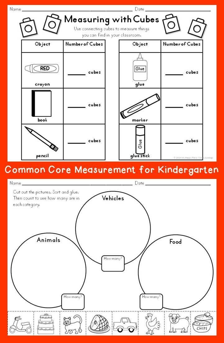 Predownload: Capacity Worksheets For Kindergarten Measurement Kindergarten Kindergarten Math Math Classroom [ 1104 x 720 Pixel ]