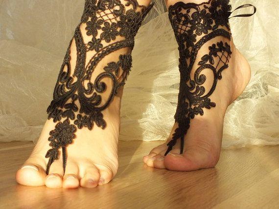 cavigliera nuziale neri sandali da sposa spiaggia a piedi nudi, braccialetto, cavigliera nozze, nave gratis, Cavigliera, abiti da sposa, matrimonio