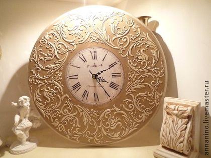 Настенные часы Вальс Крем Брюле - бежевый,настенные часы,часы настенные