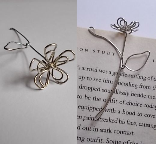 Wire Flowers #art #bookmark #daisy