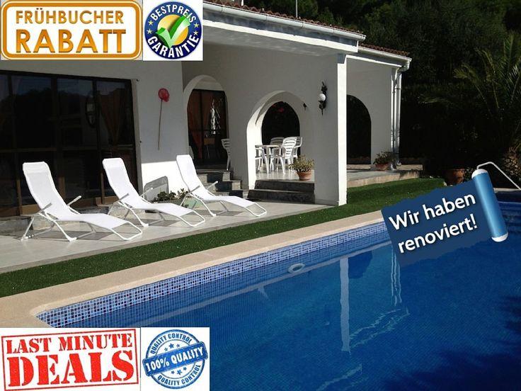 TELEFONISCHE BERATUNG 10.00-22.00 UHR UNTER +34-871-510071 (DEUTSCH) !!! 20% FRÜHBUCHER & LAST-MINUTE-PREISE - NUR NOCH BIS ENDE DER WOCHE! in Llucmajor & Umgebung: 4 Schlafzimmer, für bis zu 10 Personen. PRÄCHTIGE VILLA 90m zum Meer, 10x4m Pool, WLAN, strandnah, Klima, Heizung, Kamin | FeWo-direkt