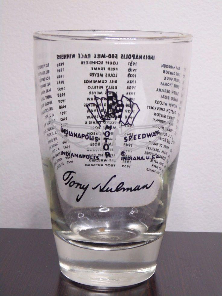 Indianapolis Motor Speedway Tony Hulman 500 Mile Race Winners 1911-1970 Glass