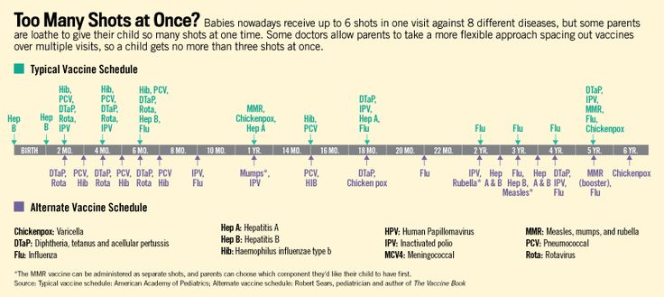 Alternate Vaccine Schedule - from Dr. Sears' The Vaccine Book