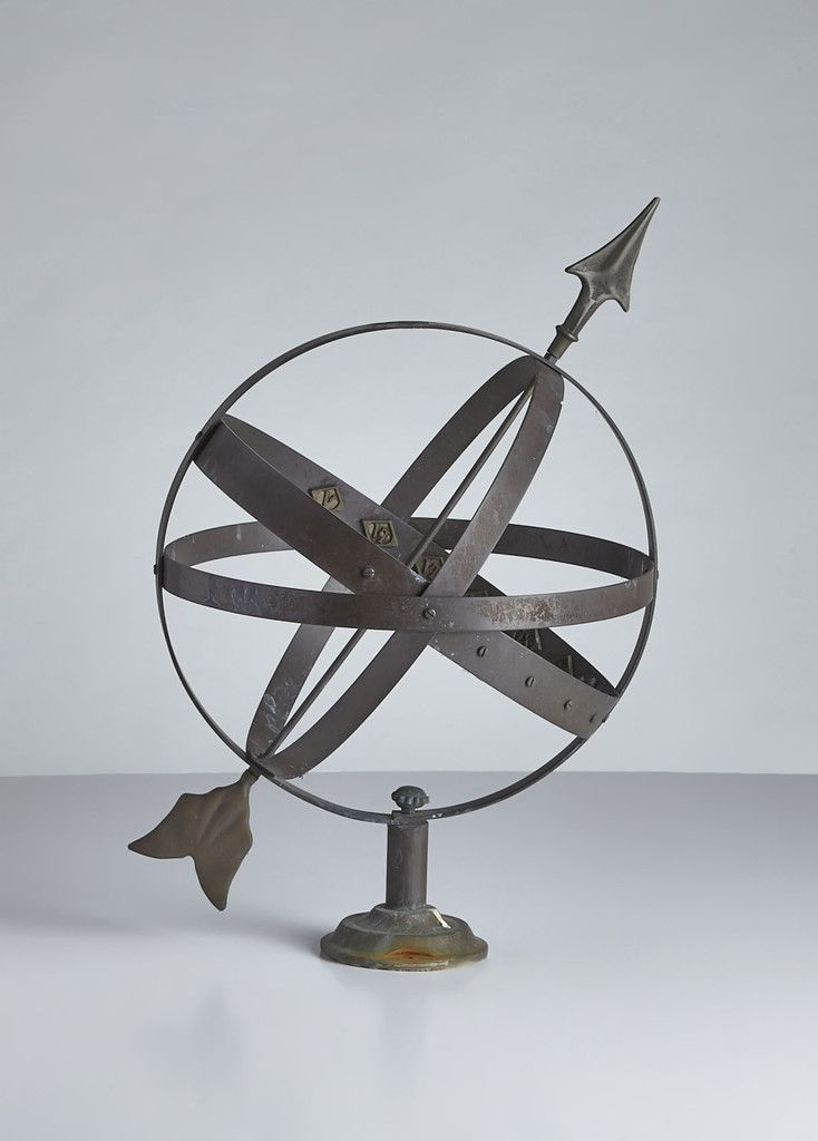 Turn of the century English garden Armillary. Classic form in bronze.