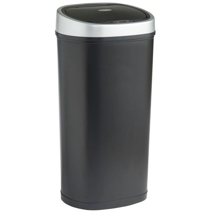 Automatic Recycle Bin Waste Can Infrared Sensor Operated Trash 50L Large Black