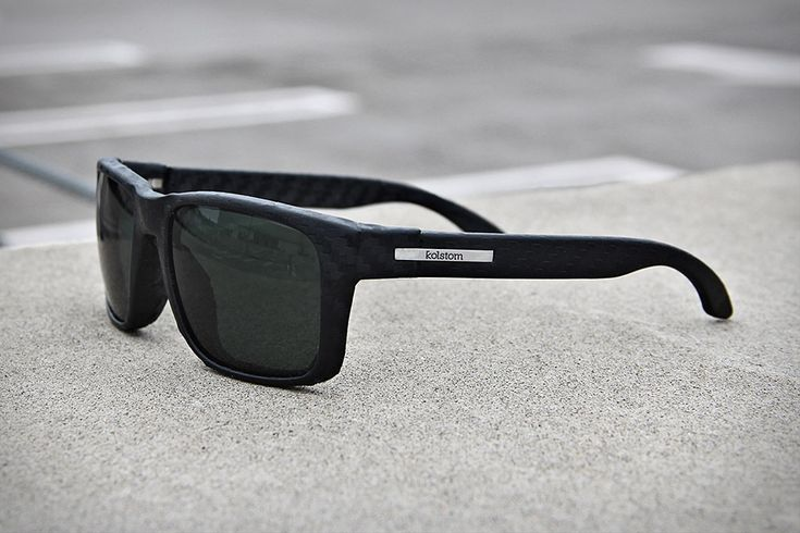 Kolstom ($125) are the world's first #sunglasses made from compression molded carbon fiber reinforced polymer