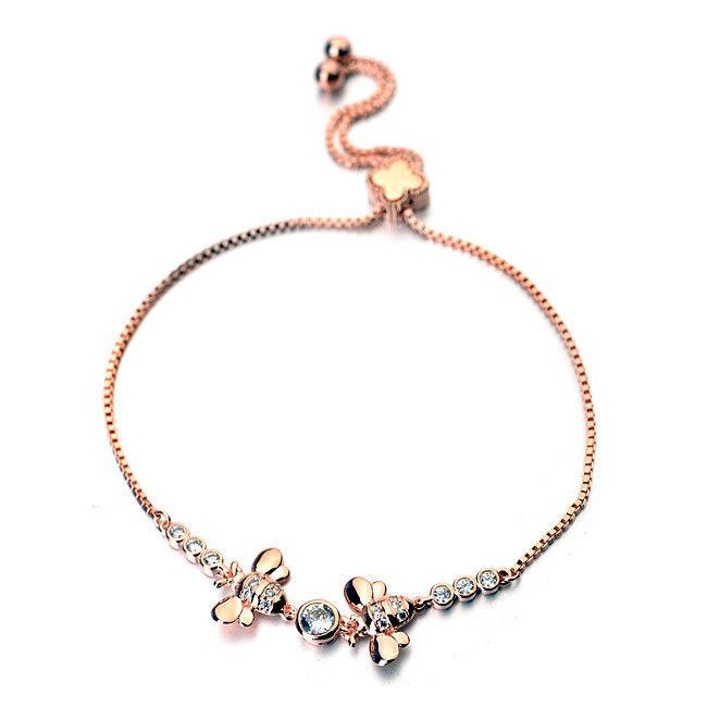 Горячая распродажа чистый ручной работы сплава регулируемая браслет с би браслет из AAA циркон браслет для мода платья