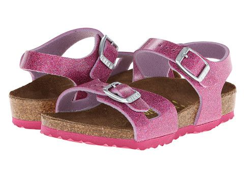 Birkenstock Kids Rio (Toddler/Little Kid/Big Kid) Sparking Light Pink Birko-Flor™ - Zappos.com Free Shipping BOTH Ways