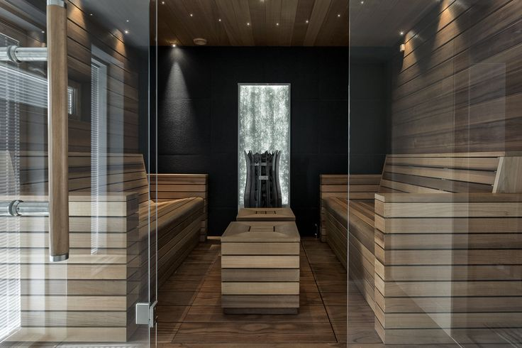 Moderni sauna kaikilla herkuilla