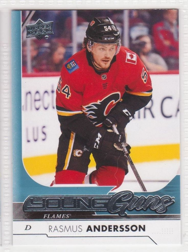 2017-18 UPPER DECK SERIES ONE YOUNG GUNS ROOKIE #218/RASMUS ANDERSSON/ FLAMES