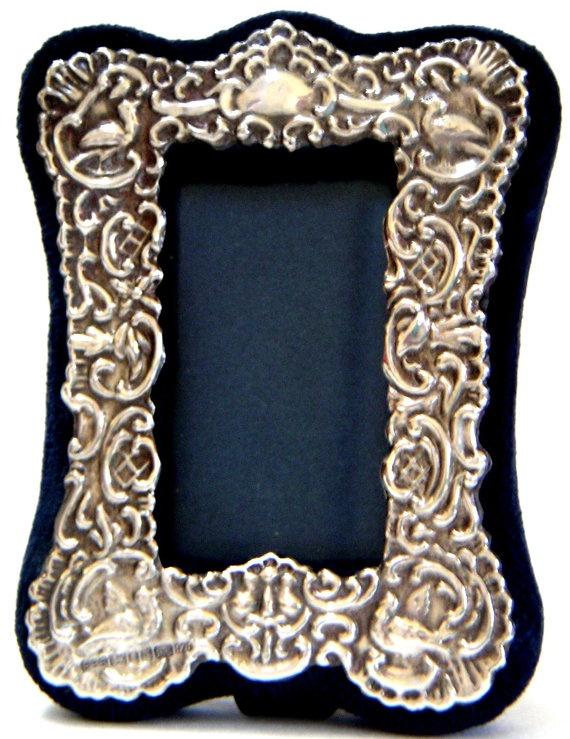 Vintage Ornate Sterling Silver Picture Frame