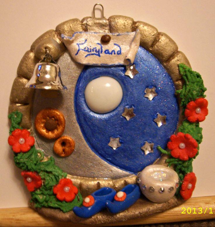 One of my salt dough fairy doors. Please visit .facebook.com/ & 731 best Fairy Doors images on Pinterest   Fairy doors Fairy ...