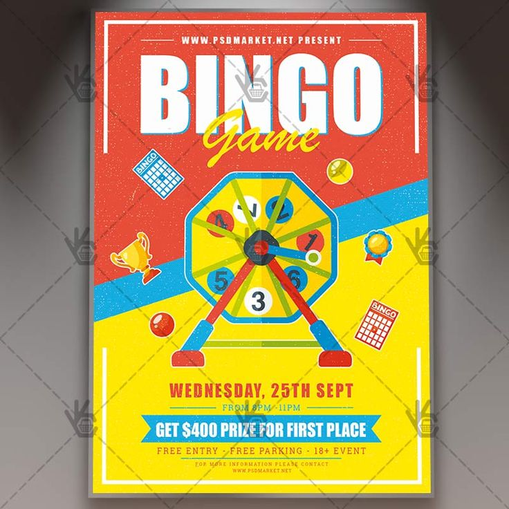 Bingo Game - Premium Flyer PSD Template. #bingo #bingocard #cards #casino #chance #competitiontournament #contest #draw #game #lucky #number #numbers #winnings  DOWNLOAD PSD TEMPLATE HERE: https://www.psdmarket.net/shop/bingo-game-premium-flyer-psd-template/  MORE FREE AND PREMIUM PSD TEMPLATES: https://www.psdmarket.net/shop/