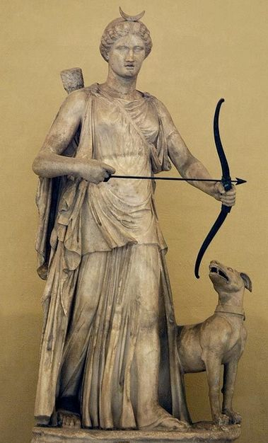 Diana marble statue - circa 2nd c. AD, from Roman period - at the Vatican Museum