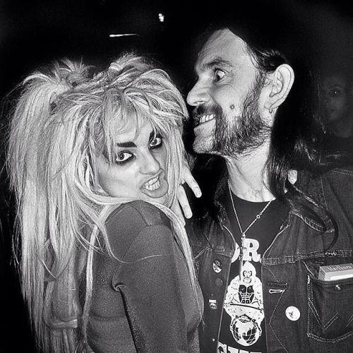 Nina Hagen and Lemmy Kilmister by Derek Ridgers