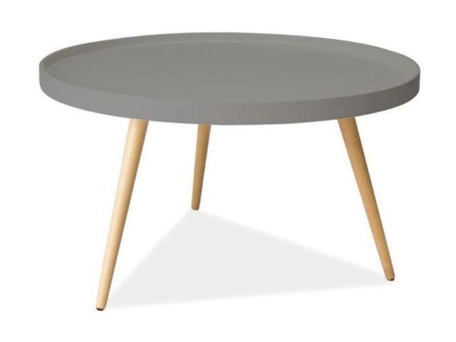 Couchtische Beistelltisch Rund Ø 78cm Holztisch Matt Grau lackiert | eBay