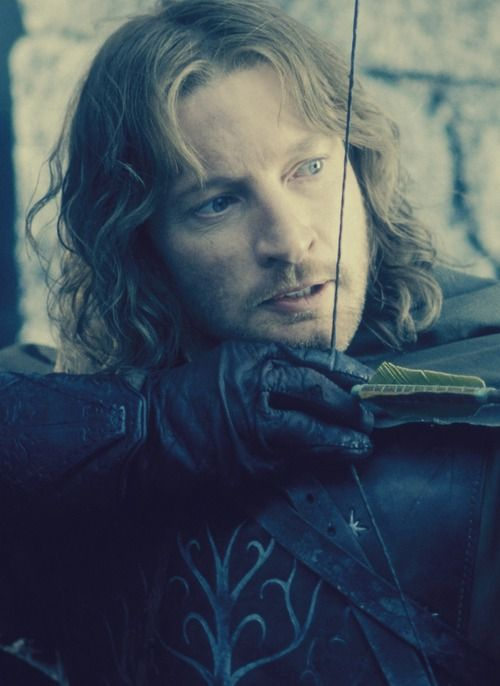 But I do not love the bright sword for its sharpness, nor the arrow for its swiftness, nor the warrior for his glory. I love only that which they defend. - Faramir: