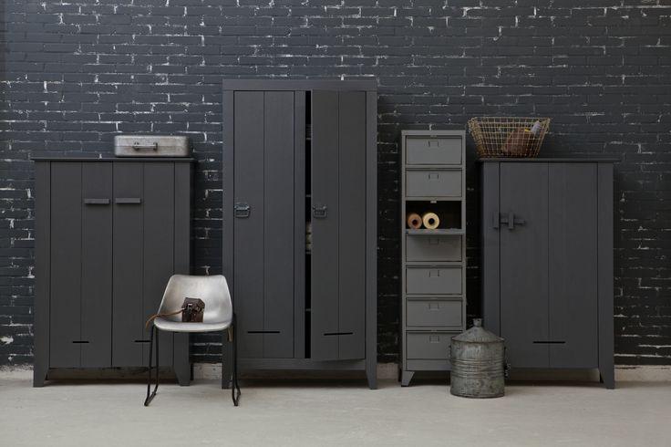 Kasten Joep, Kluis, Max en Guus. Cabinets, steelgrey, grijs - WOOOD.