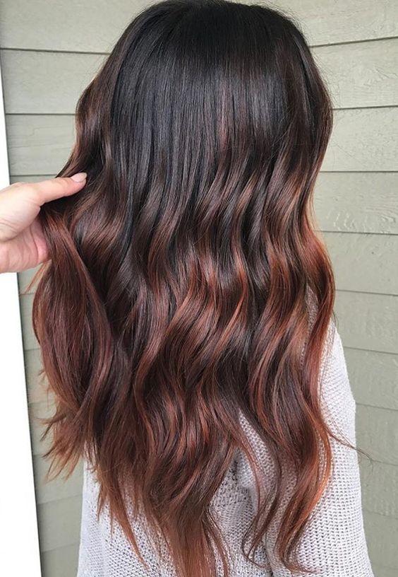 Warme haarfarben 2017
