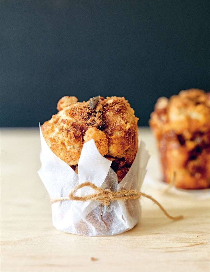 Apple, sour cream & cinnamon crunch muffins from Grains | Cooked