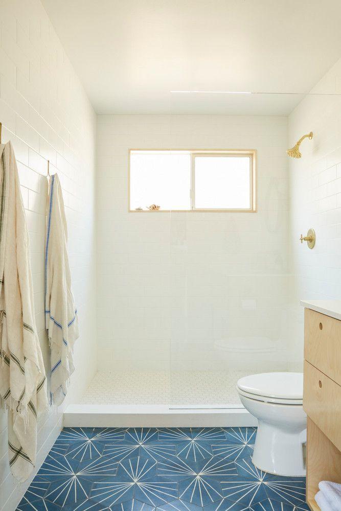 Modern Home With Vintage Decor Interior Design Tour Bathroom Floor Tiles Trendy Bathroom Patterned Floor Tiles