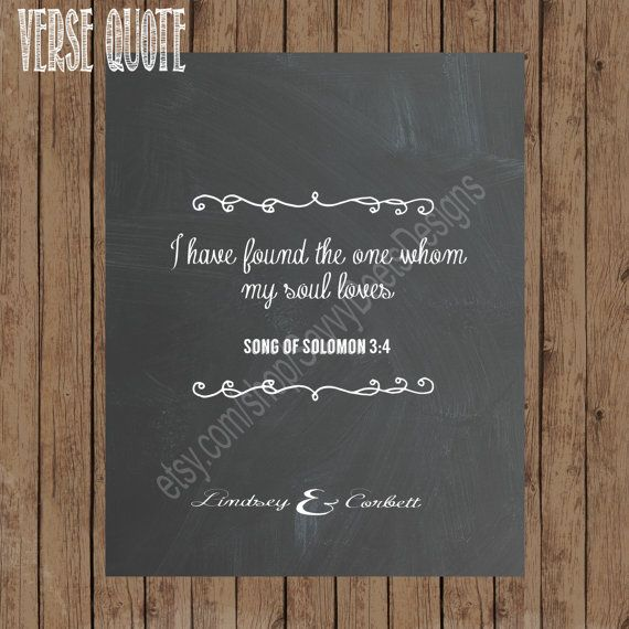 Chalkboard Wedding Sign Set - Chalkboard Love Quote/Bible Verse