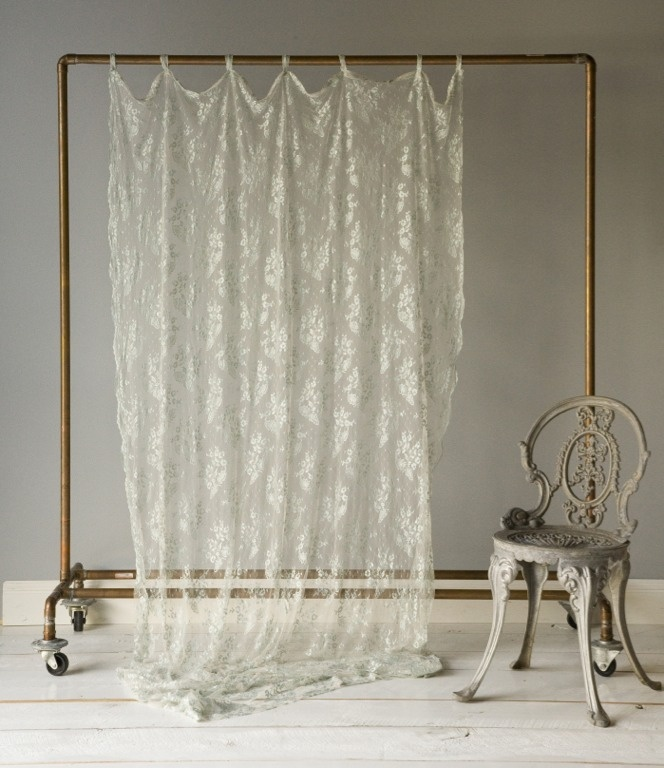 Pretty way to take pictures of curtains and fabrics!